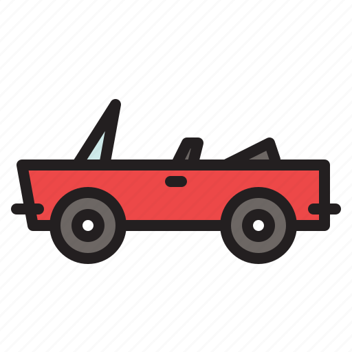 automobile, car, colored, convertible, transportation, vehicle icon