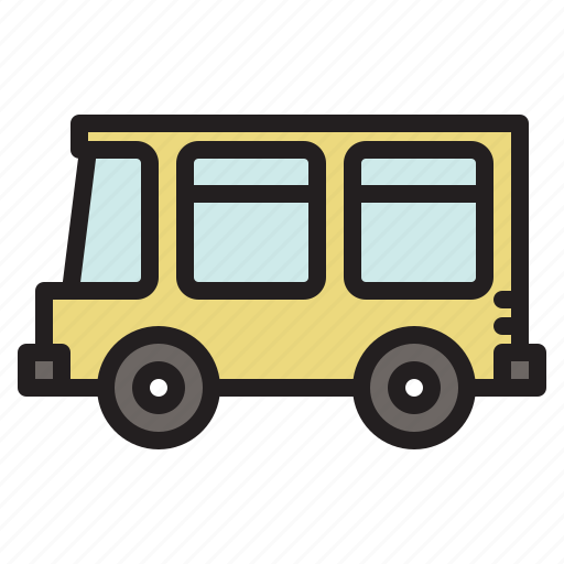 bus, colored, transportation, vehicle icon