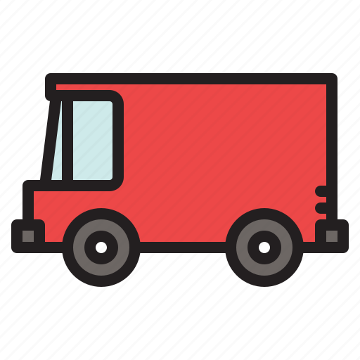 colored, delivery, transportation, van, vehicle icon