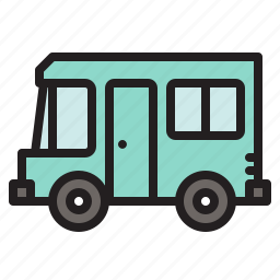 camper, caravan car, colored, transportation, travel, vacation, vehicle icon