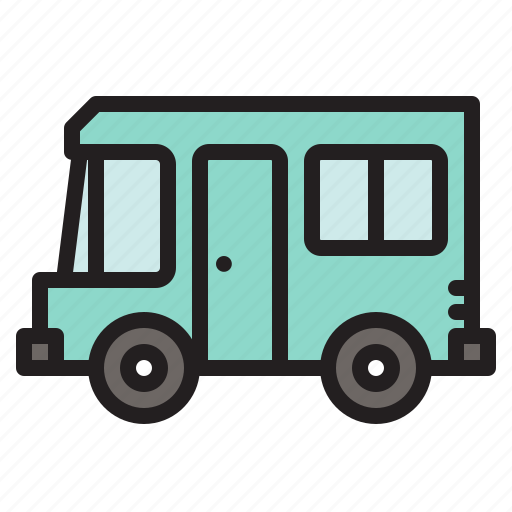 camper, caravan car, colored, transportation, travel, vacation, vehicle icon