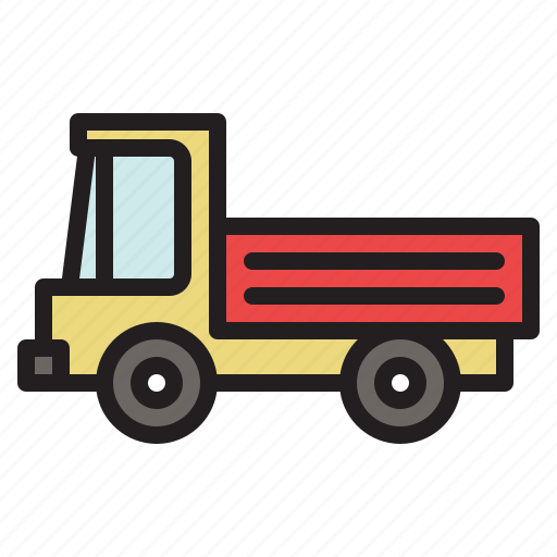 colored, transportation, truck, vehicle icon