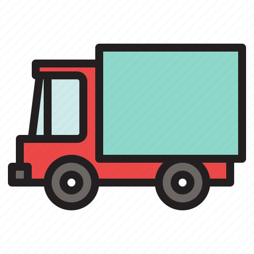 colored, delivery, transportation, truck, vehicle icon