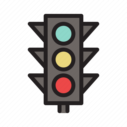 colored, traffic light, transportation icon