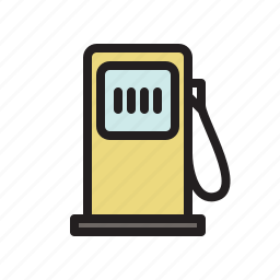 colored, diesel, fuel, gas pump, gas station, petrol, transportation icon