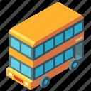 bus, double decker bus, isometric, london, transport, transportation, vehicle icon