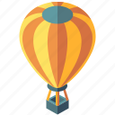 adventure, balloon, floating, hot air, isometric, transport, transportation icon