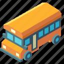 bus, isometric, low floor bus, public, transport, transportation, vehicle icon