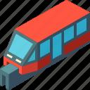 isometric, monorail, railway, subway, train, transport, transportation icon