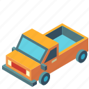 automobile, isometric, pickup, transport, transportation, truck, vehicle icon