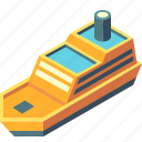 cruise, freight, isometric, ship, transport, transportation, travel