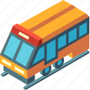isometric, locomotive, railway, train, transport, transportation