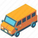 car, isometric, minivan, transport, transportation, van, vehicle icon