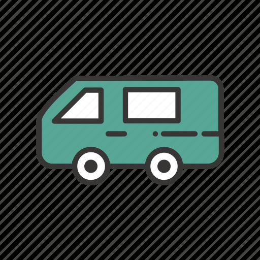 auto, automobile, car, hotel, traffic, transport, transportation, travel, vacation, van, vehicle icon