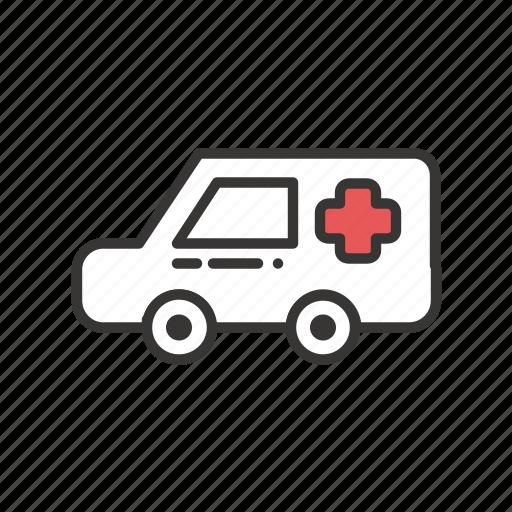 ambulance, car, care, doctor, health, healthcare, hospital, medicine, transportation, vehicle icon