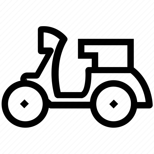 bike, motorbike, motorcycle, riding, scooter, vespa icon