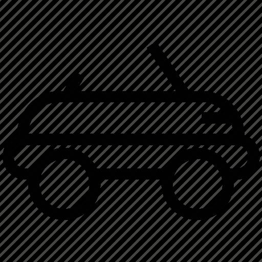 automobile, construction vehicle, mini, transport, travel icon