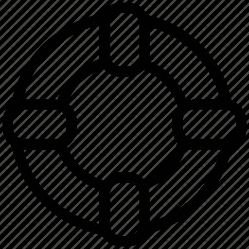 circle, circular, float, lifebelt, lifesaver, protection icon
