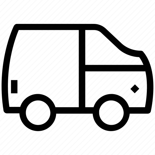 cargo, delivery van, hatchback, lorry, shipping truck, vehicle icon