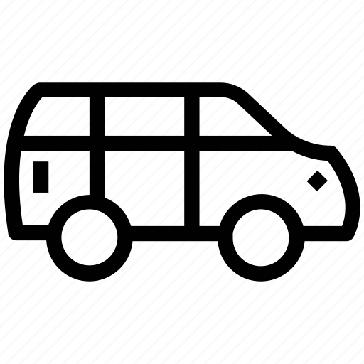 automobile, car, public transport, transport, vans, vehicle icon