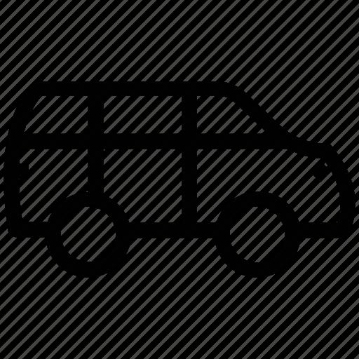 automobile, bus, transport, travel, van, vehicle icon