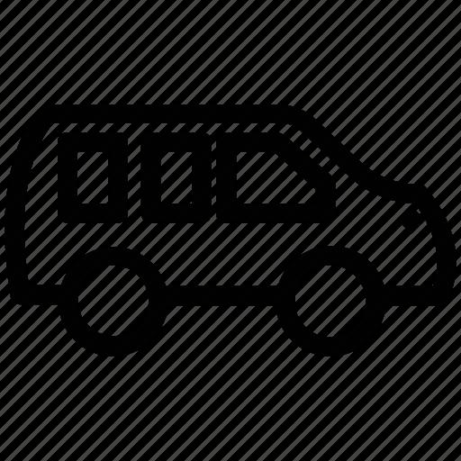 automobile, bus, minibus, transport, travel, van, vehicle icon