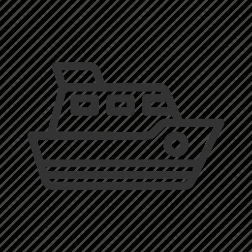 sea, ship, transportation, travel, vacation icon