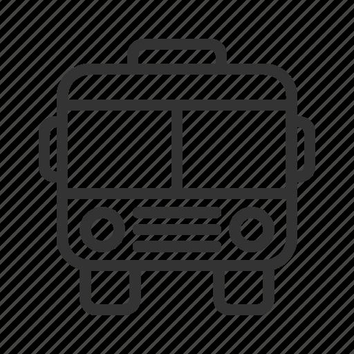 bus, public, transportation, travel icon