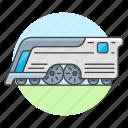 future, futuristic, land, other, railroad, railway, track, train, transport, transportation icon