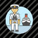 captain, ferry, fluvial, male, maritime, ship, transportation, vessel, waterborne, watercraft icon