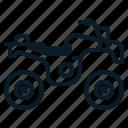 automobile, bike, motorcycle, quad, transportation, vehicle icon