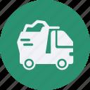 and, automobile, car, dump, service, transportation, transpot, travel, truck, vehicle icon