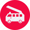 and, automobile, car, fire, service, transportation, transpot, travel, truck, vehicle icon