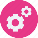 and, car, gears, service, transportation icon