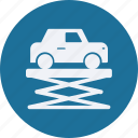 and, car, lifter, service, transportation icon