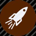 and, car, rocket, service, ship, transportation icon