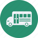 and, automobile, bus, car, school, service, transportation, transpot, travel, vehicle icon