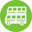 and, automobile, bus, car, double, service, transportation, transpot, travel, vehicle icon