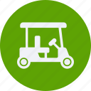 and, car, cart, golf, service, transportation icon