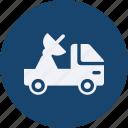 and, car, satellite, service, transportation icon