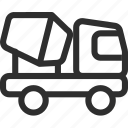 25px, cement, iconspace, truck icon