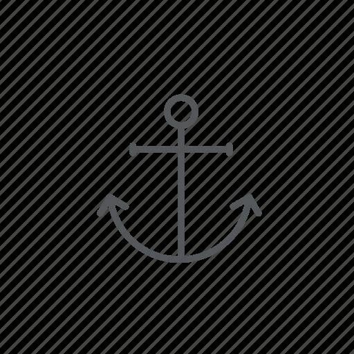 anchor, boat, ocean, sail, sea, vessel, water icon