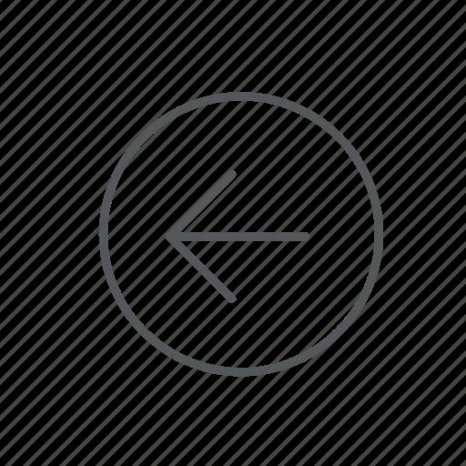 arrow, circle, direction, left, navigation icon