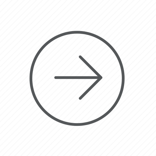 arrow, circle, direction, navigation, right icon