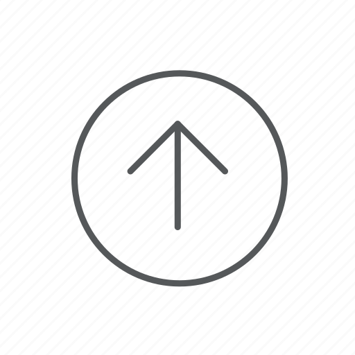 arrow, circle, direction, navigation, straight, up icon