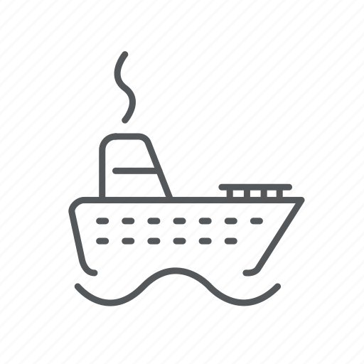 boat, cruiser, ocean, sail, steamboat, steamer, vessel icon