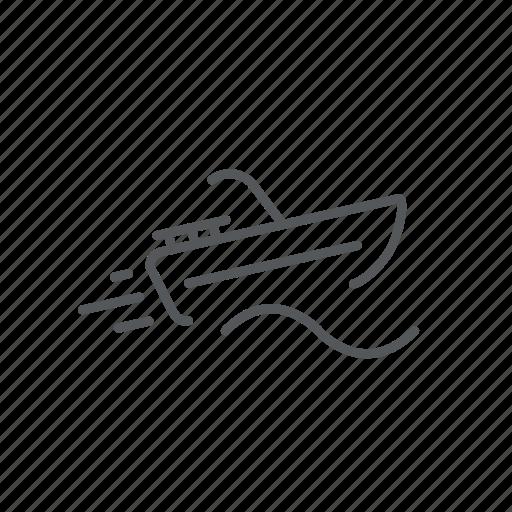 boat, sail, sculler, vessel icon