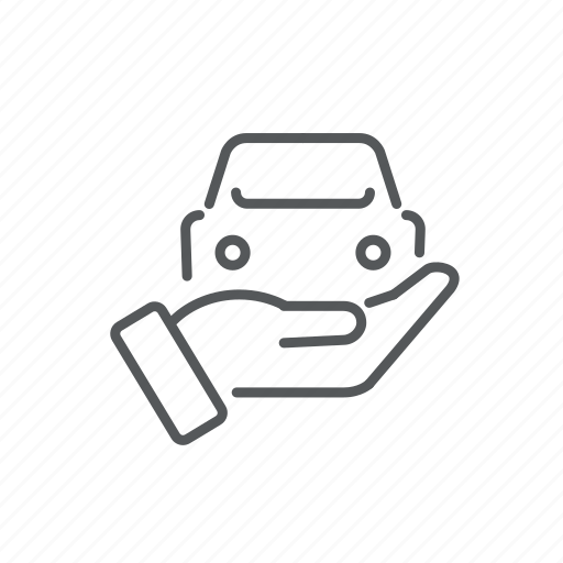car, hand, offer, rent, sell, transport, vehicle icon