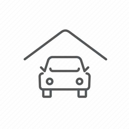 car, cover, garage, house, insurence, roof, vehicle icon