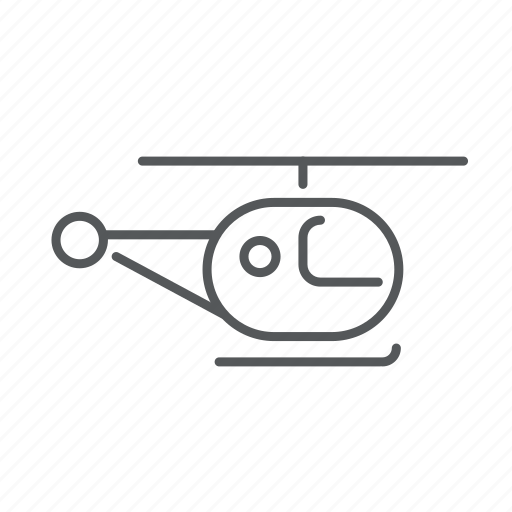 chopper, fly, helicopter, plane, transport icon